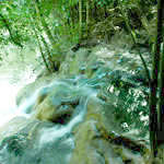 hot waterfall, klong tom , krabi