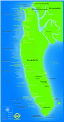 map of Koh lanta